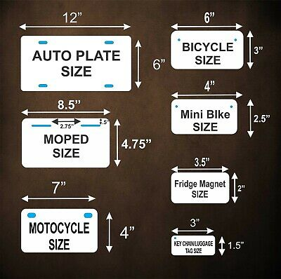 New York 2010 License Plate Personalized Custom Auto Bike Moped Motorcycle Tag 2