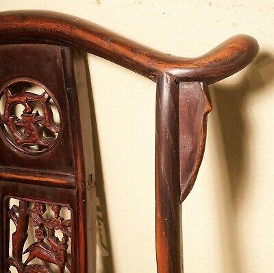 Antique Chinese High Back Arm Chairs (2991) (Pair), Circa 1800-1849 12