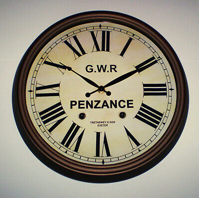 Great Western Railway GWR Victorian Style Clock, Penzance Station 3