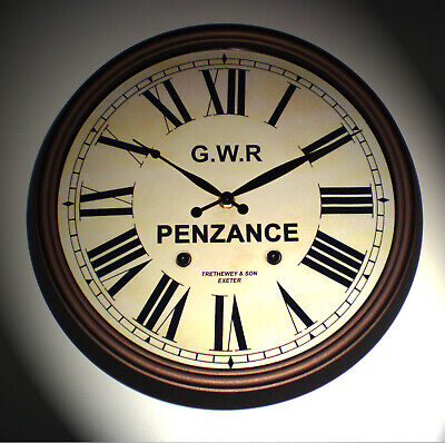 Great Western Railway GWR Victorian Style Clock, Penzance Station 2