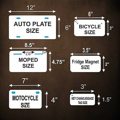 Any State Any Text License Plate Personalized Custom Auto Car Bike Bicycle Tag 2