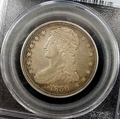 1836 Reeded Edge Capped Bust Half Dollar graded XF 40 by PCGS! Only 1200 minted! 3