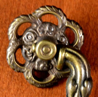 "ANTIQUE Keeler Brass Furniture Cast Brass Pull  #276 Screw Holes 3 1/2"" Apart 2 • CAD $15.75"