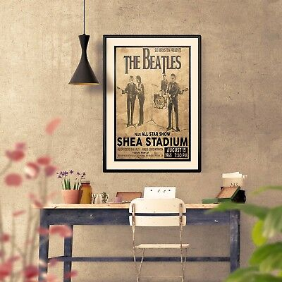The Beatles 1965 First Shea Stadium Concert Three Print Options or Framed Poster 2