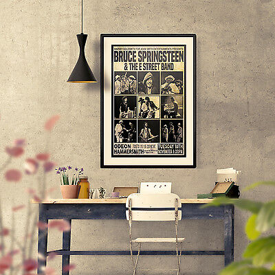 Springsteen 1975 First Ever London Concert Three Print Options or Framed Poster