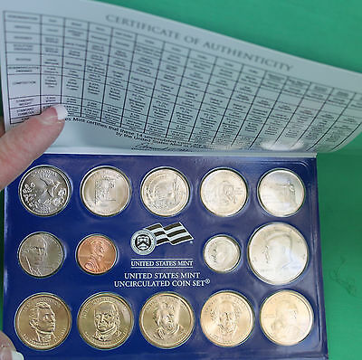 2008 P and D United States Mint ANNUAL Uncirculated Coin Set 28 BU Coins and COA 8
