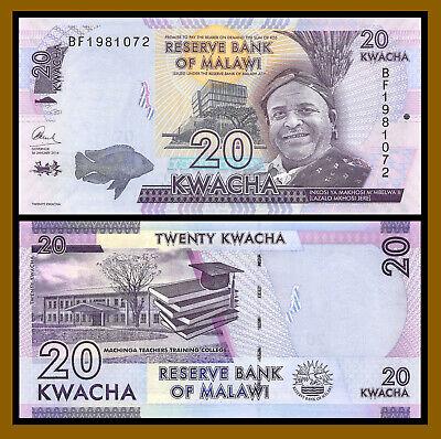 MALAWI 50 KWACHA 2017 P NEW DATE UNC LOT 20 PCS