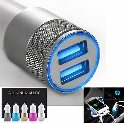 Car Charger 3.1A Double LED USB Alloy Universal Fast Charging iPhone Samsung New 2
