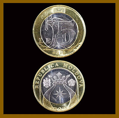 Moldova 2019 New coins Set 2018 1+2+5+10 Lei x2 in booklet 8 coins UNC