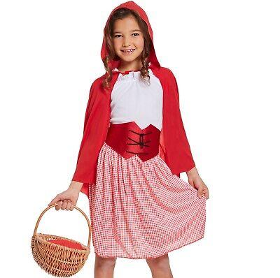 Filles Chaperon Rouge Déguisement Enfants Monde Livre Jour Conte de Fées Robe A