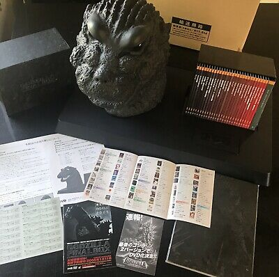 GODZILLA FINAL BOX - COMPLETE SET!!! DVD Set, Poster Book, Bust, Display Stand 2