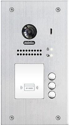 2 Draht Bus Video Türsprechanlage Sprechanlage 2.0 Megapixel Kamera Edelstahl 3