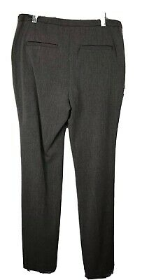 Chico's Womens Dress Pants Flat Front Career Stretch Gray Sz 0 Small 4 3