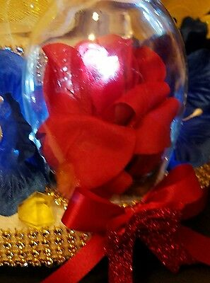 "Lighted Beauty and the Beast 1pc 3D  cake topper centerpiece decoration 17/"" tall"
