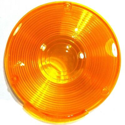 "Lens 4"" amber plstic 3 hole for Peterbilt Kenworth Freightliner combination lite 10"