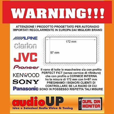Mascherina Autoradio 2 Din Smart For Two Dal 2010 Adattatore Due Din Kit Full 2