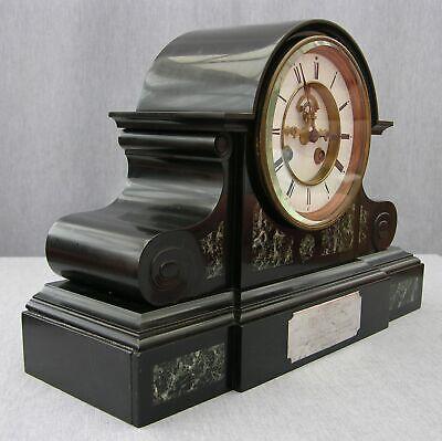 Huge 1869 Victorian Clock, 14-day Marti Movement, Visible Brocot Escapement 4