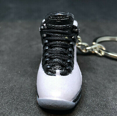 factory price 6be8d 740ea AIR JORDAN X 10 Retro Cool Grey Steel 3D Sneakers Keychain 1:6 Figure Shoes  Box