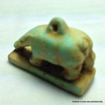 Ancient Egyptian Faience Goddess Nut Depicted As A Sow. 1070-664 Bc!! 5