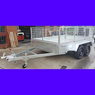 10x6 tandem trailer with cage galvanised heavy duty full checker plate 2000kgs 3