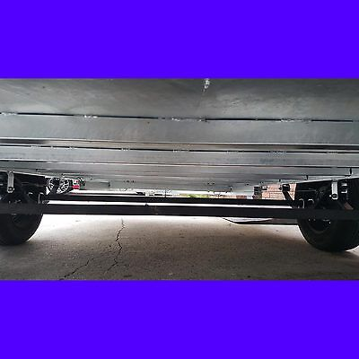 10x6 tandem trailer with cage galvanised heavy duty full checker plate 2000kgs 7