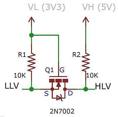 10 Stk Adapter Board PCB für Pegelwandler WS2812B // ESP8266 Steuerung 3.3//5V