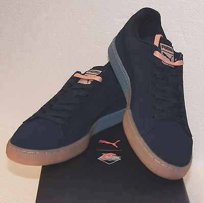 b8b4a308c695 ... Puma X Pink Dolphin Suede Classic PD Dress Blue Coral Pink Sneakers  BRAND NEW