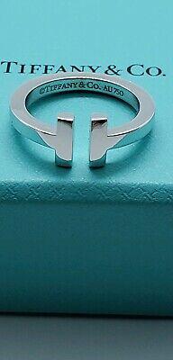 Tiffany&Co T Square Ring In 18K White Gold 3