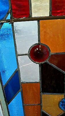 Antique Eastlake Victorian stained glass window. 4