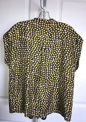 32184c91b83263 ... Cabi Clover Polka Dots Silk Blouse Top Shirt Size XS Gray Yellow Style # 183 10