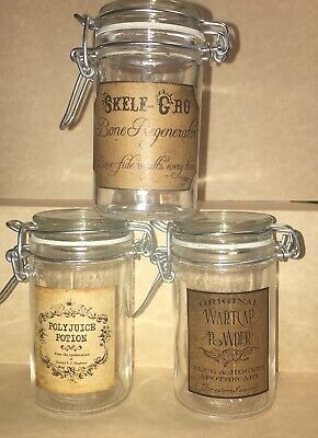 LABELS ONLY Halloween Apothecary Potion Bottle Harry Potter Party Prop Favor Jar 3