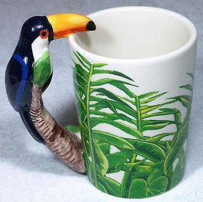 Ceramic Mug TOUCAN Bird in Rain Forest 9319844520058 RAINFTOUM Gift Box 8