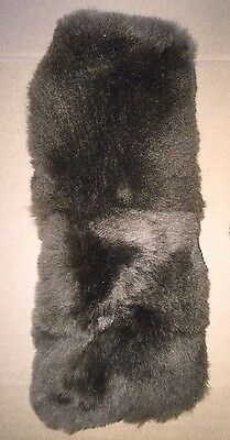 SPECIAL CURLY Black Sheepskin Noseband Pad fits Best Friend Horse Grazing Muzzle