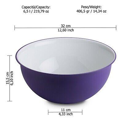 Omada Design Insalatiera 32,5 x 15,5 cm in plastica e microban antibatterico