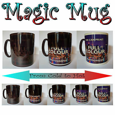 Personalised Heat Colour Changing Gift Magic Mug Image Photo Text Secret Santa 2