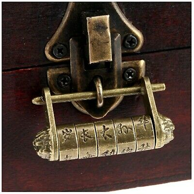 Chinese Vintage Antique Lock Old Brass Style Padlock English Combination UK SHOP 2