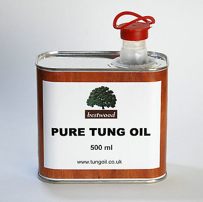 Pure Natural Tung Oil, Bestwood, 500 ml, Finest Quality, INTRODUCTORY PRICE 2
