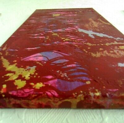 Red Abstract Painting Original Canvas Art Textured Artwork OOAK Wall Home Decor 10