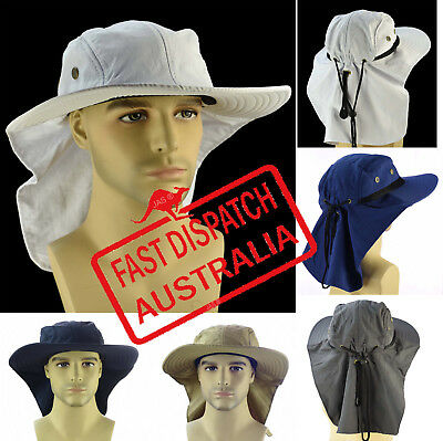 1d397036358 ... NECK BACK FLAP COVER LEGION LEGIONNAIRE Work Fishing SUN HAT Men Women  WIDE BRIM 4