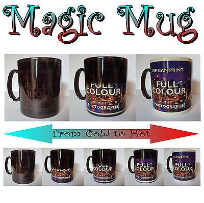 Personalised Heat Colour Changing Magic Mug Cup Image Photo Logo Text Gift xmas 2