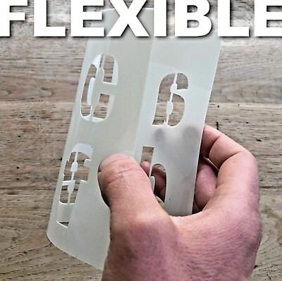 "LETTERING STENCIL ALPHABET / NUMBERS 100mm tall (4"" ) VERY LARGE ROMAN CAPITALS"