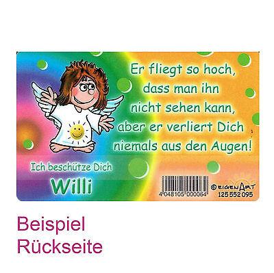 Schutzengelkarte Schutzengelkarte Jungennamen Buchstabe H-K Geschenk Karte