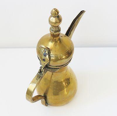 "Copper Antique 11"" Dallah Arabic Middle East Kettle Pot Marked 8"