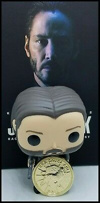 John Wick Challenge Coin Krugerrand Pop Continental Hotel Assassin Keanu Movie 12