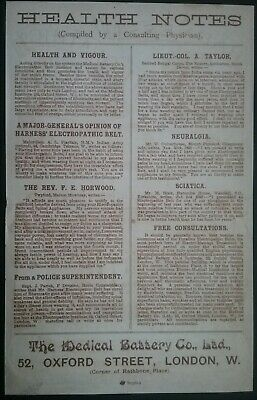 Victorian Electropathic Belts Leaflet ******(See Description For Details)****** 3