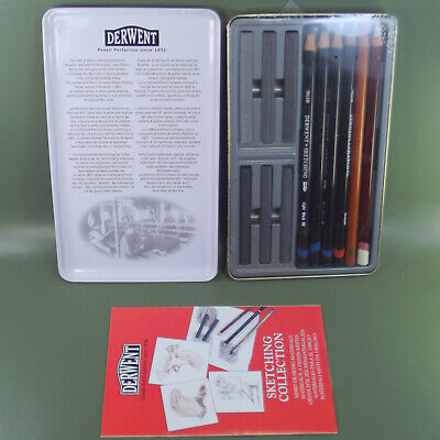 DERWENT 12 Sketching Collection  Tin. Mixed media no. 34305.Made in UK 3