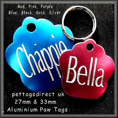 Coloured Aluminium Pet ID Tags For kittens/Cats, Puppies,  Sm/Med or Large dogs! 3