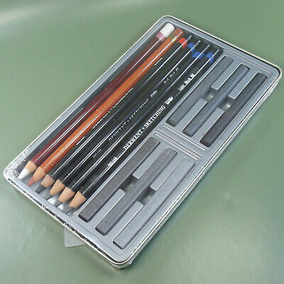 DERWENT 12 Sketching Collection  Tin. Mixed media no. 34305.Made in UK 5