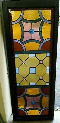 Antique Stained Glass  Window Victorian Era 2