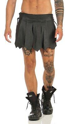 Gladiator Kilt Skirt Echt Leder Legionär Rock Schwarz Mittelalter Typ A XS-XXXL 4